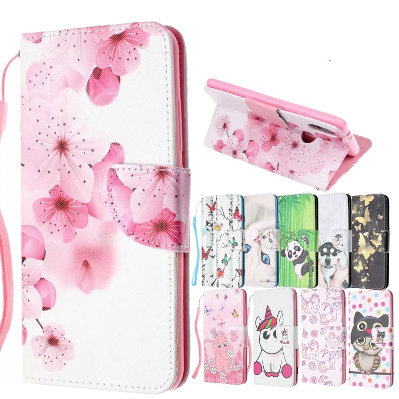 Redmi Hinweis 7 Gemusterte Flip PU Leder Brieftasche Telefon Fall Abdeckung auf sfor Xiaomi Mi 8 Lite A1 A2 Redmi 6A 4X 4A Hinweis 5 6 Pro 8 Pro