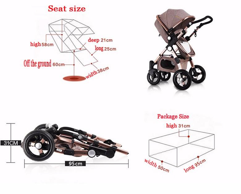 GoldenBaby wózka dziecięcego 2 w 1 3 w 1 szok składany składany newborn baby wózek Rosja darmowa wysyłka 14