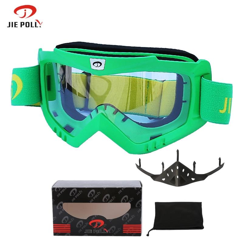 Jiepolo Snowboard Snowmobile gafas de esquí profesional antiniebla anit-uv gafas de esquí gafas de moto gafas de casco