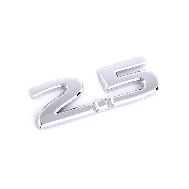 Placa de cromo 3d 2.5 emblemas de metal emblemas logotipo