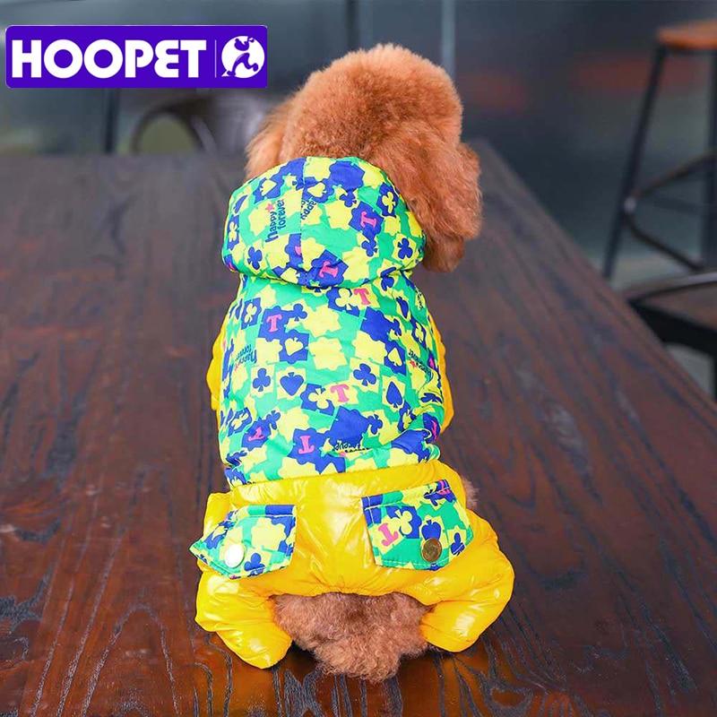 Woopet perro gato cálido invierno ropa de esquí ropa otoño chaqueta cachorro Abrigo con capucha cuatro pies
