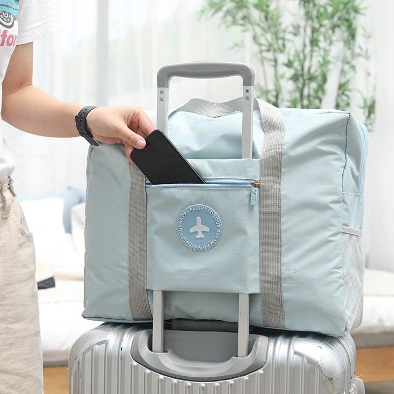 Новинка 2019, модная дорожная сумка, водонепроницаемые дорожные сумки унисекс, женские чемоданы, дорожные складные сумки 5 цветов, бесплатная ...
