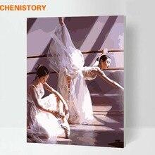 Kits peinture à main avec numéros de Ballet   Ensemble de tableaux multiples, peinture de chiffres pour salon, tableau artistique mural