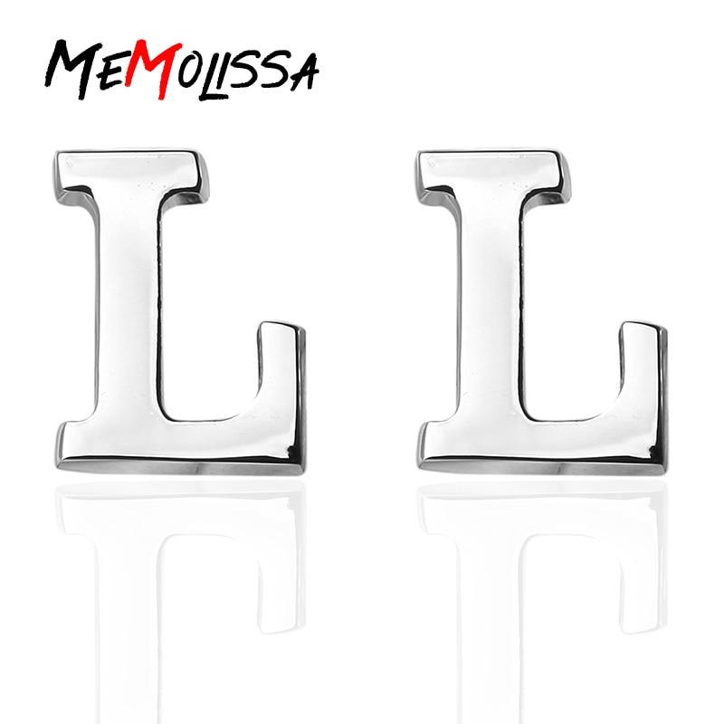 MeMolissa Luxus hemd Mode Manschettenknöpfe für Herren geschenk Marke Brief L Design manschette links Hohe Qualität abotoaduras schmuck