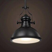 Rétro Loft lumière salle à manger Restaurant café bar cave club rétro fer pendentif lampe industrie mine lumière phare lustre