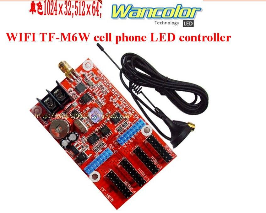 Envío Gratis TF-wifi-M6W inalámbrico celular controlado WIFI comunicación inalámbrica de señal LED controlador WIFI