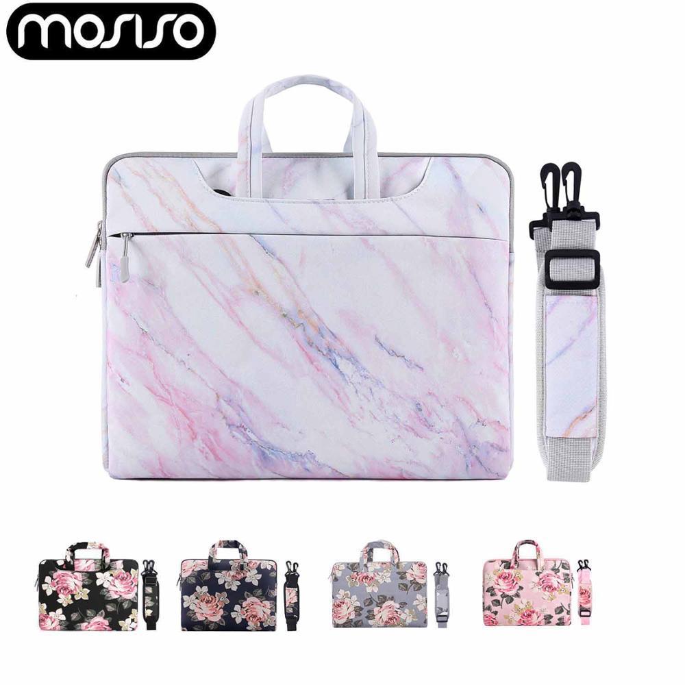 MOSISO 11 13 13,3 14 15,6 superficie Pro Notebook bolso lona portátil caso manga bolsa de hombro para Macbook Air Pro Asus Acer Dell HP