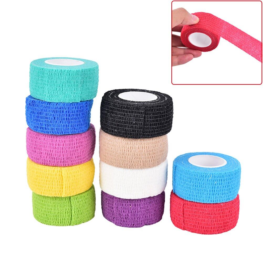 1pc Auto adhesivo elástico vendajes para tatuajes tela no tejida 4 de 5cm de ancho codo vinculante protección de cinta para uñas accesorios del tatuaje