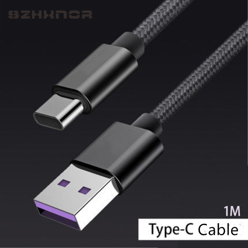 Black Type C Charger USB C Fast Charging Data Charge for Huawei P20 Lite P30 Pro Mate 20 Honor 10 9 8 view 20 MediaPad M5 M8