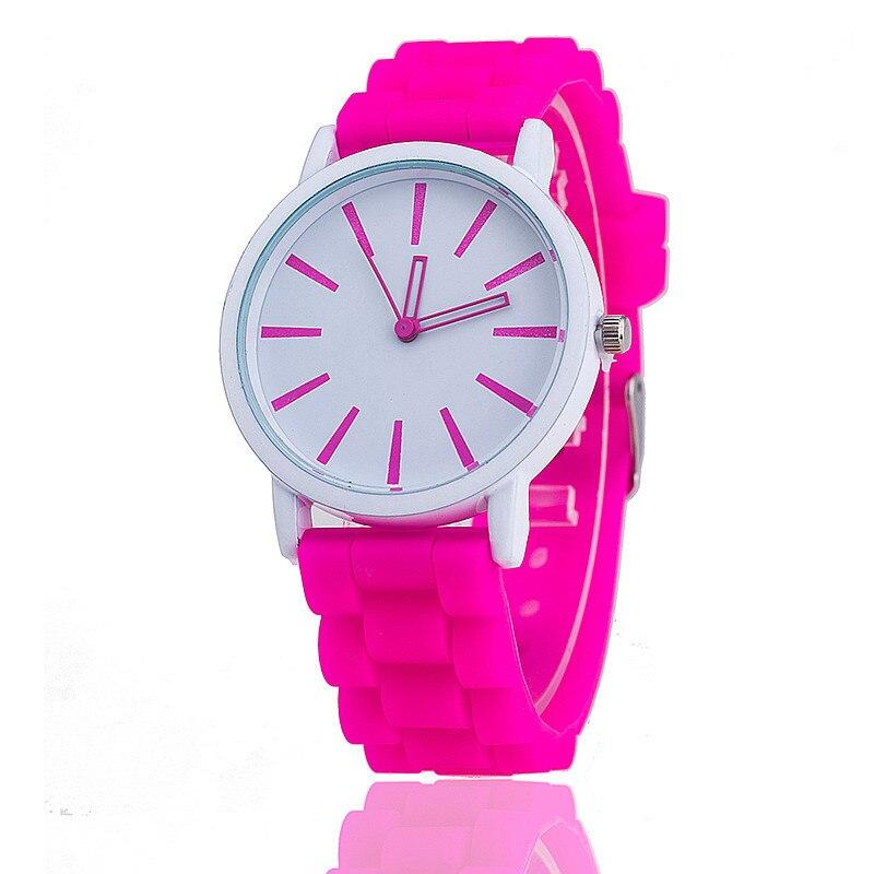 ¡Novedad de 2018! reloj de cuarzo de marca de moda Unisex, relojes deportivos de silicona informales para mujer, reloj rojo, relojes de pulsera de regalo Casual para mujer