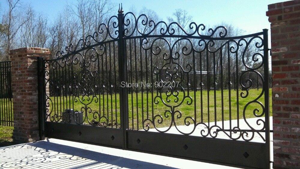 8 ft البوابة المعدنية معدني خارجي بوابات الحديد الزهر حديقة بوابات للبيع