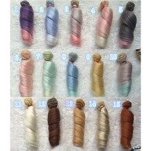 Mode 15cm bricolage Mini Tresses poupée haute température matériel perruque de cheveux raides pour BJD accessoires de poupée synthétique