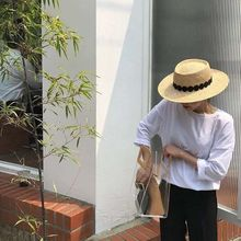 01904-panshi 프랑스 그레이스 수제 자연 보물 잔디 고급 레이스 리본 fedoras 모자 남성 여성 휴일 파나마 재즈 모자