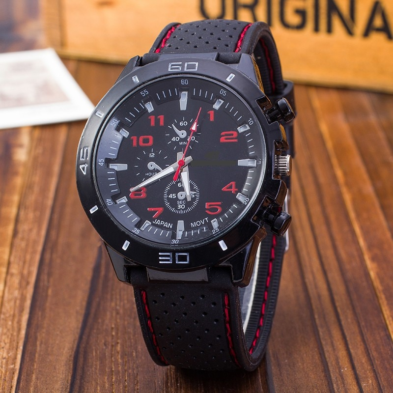 Reloj deportivo militar para hombre y mujer, pulsera de cuarzo de silicona,...
