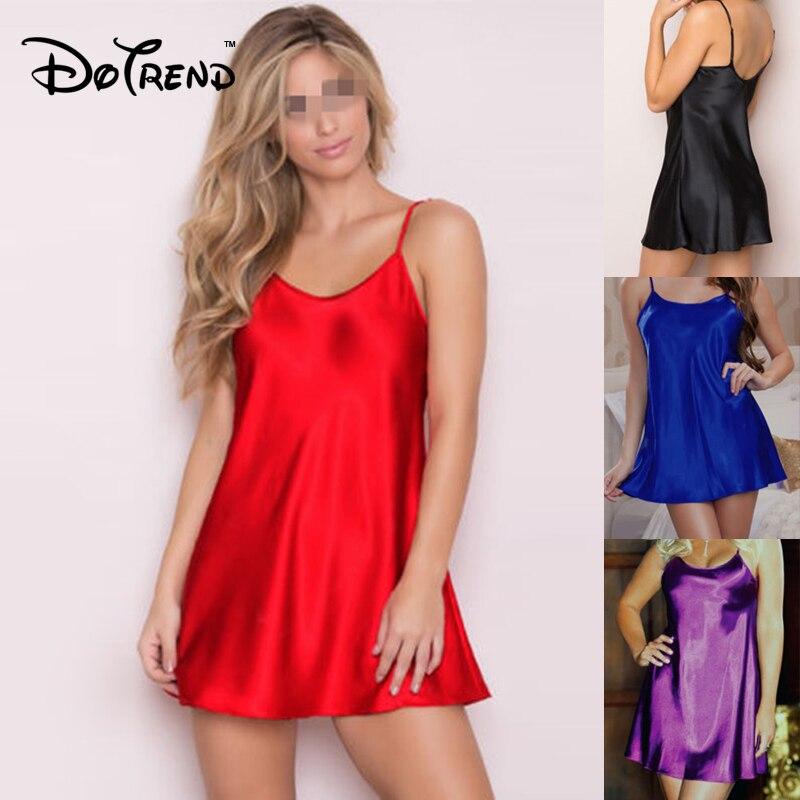 Dames Sexy soie Satin robe de nuit sans manches nuisettes o-cou chemise de nuit grande taille chemise de nuit déshabillé en dentelle vêtements de nuit pour les femmes