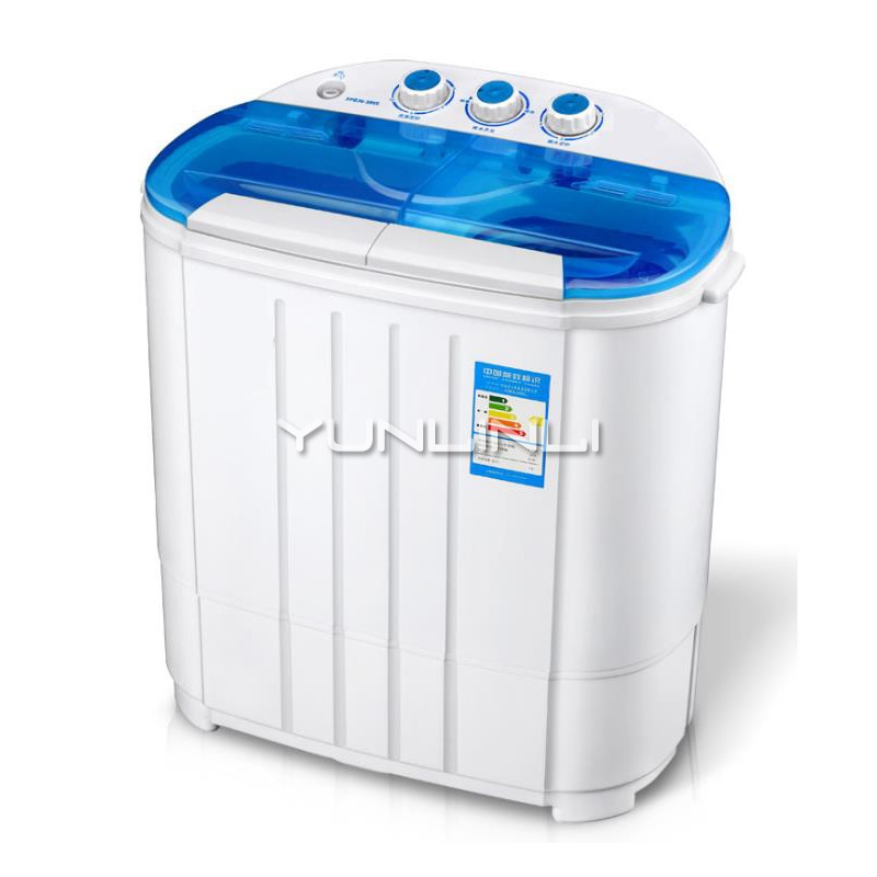 Mini Electric Clothes Washing Machine Double Cylinder Semi-automatic Children's Washing Machine Dryer XPB36-388S