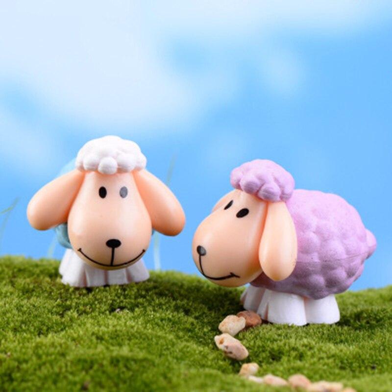 ZOCDOU 1 pieza oreja grande oveja Arabia Saudita Cordero oveja cabra Ovej Asia pequeña estatua figurita adorno para manualidades miniaturas decoración del hogar