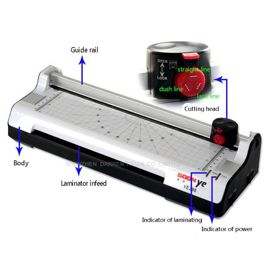 Новый Smart Photo ламинатор A3 холодный ламинатор герметичный Пластик машина горячий и холодный ламинатор Ширина 330 мм