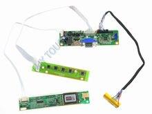 VGA para conversor de LVDS LCD Kit Placa Controladora Para LTN154P0 LTN154P1 LTN154P2 LTN154P3 LTN154P4 1680x1050 de Vídeo LVDS CCFL placa