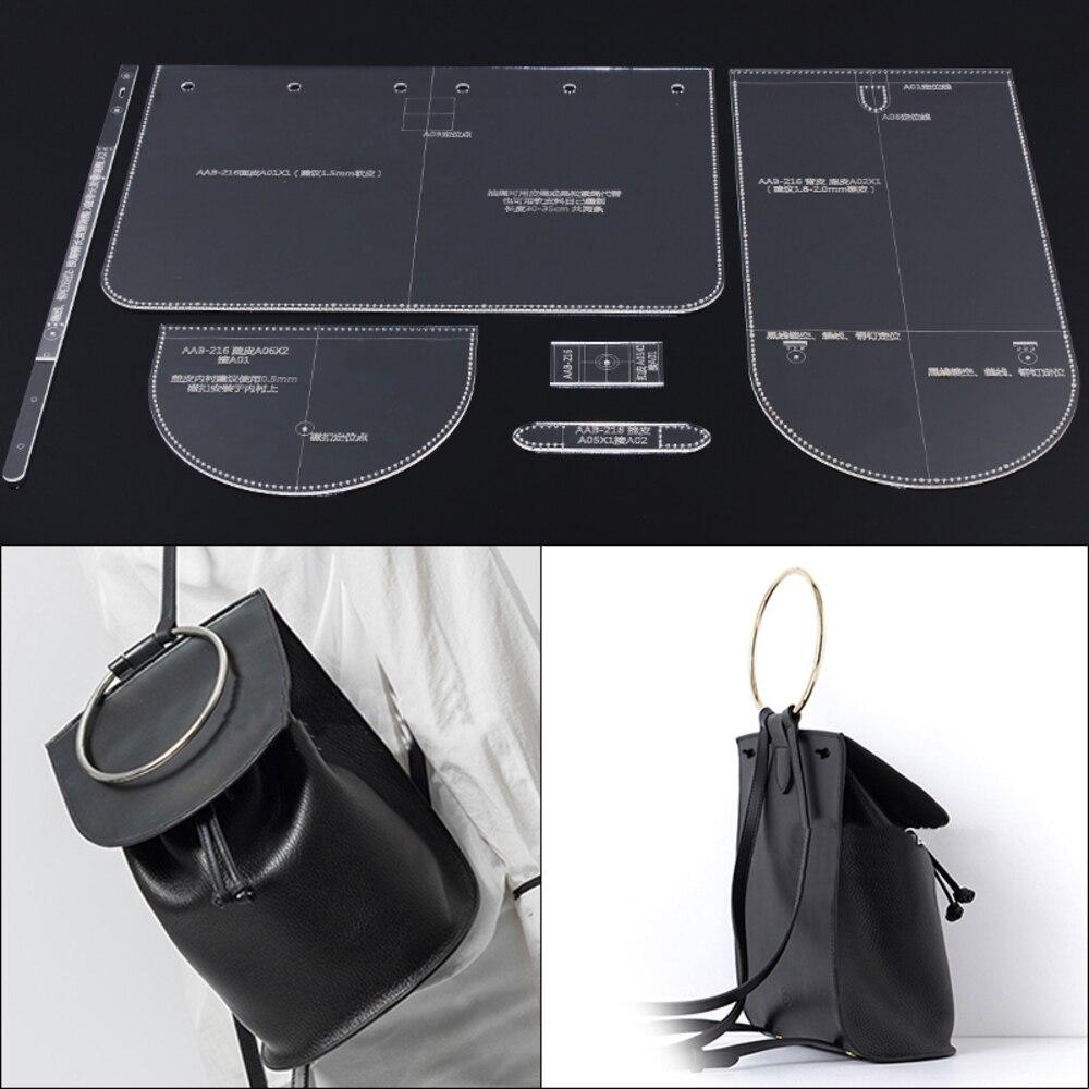 Dame Schulter Tasche Rucksack Design Modell Mold Diy Manuelle Leder Edition Acryl Acryl Platte Modell 18x25x13,5 cm
