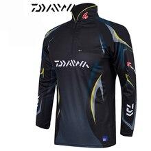 Dayiwa المضادة للأشعة فوق البنفسجية ملابس لصيد السمك الصيد الملابس جيرسي معطف سريعة الجافة الصيد قمصان Camisas Pesca تنفس انخفاض الشحن