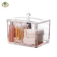 msjo cotton pad organizer makeup storage box acrylic cotton swabs container case clear jewelry cosmetic storage bins