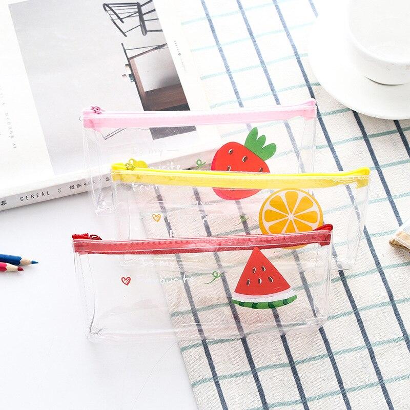 Fruta tema gran capacidad lápiz estuche de bolígrafo Oficina Universidad escuela gran almacenamiento bolsa de alta capacidad funda cartuchera caja organizadora