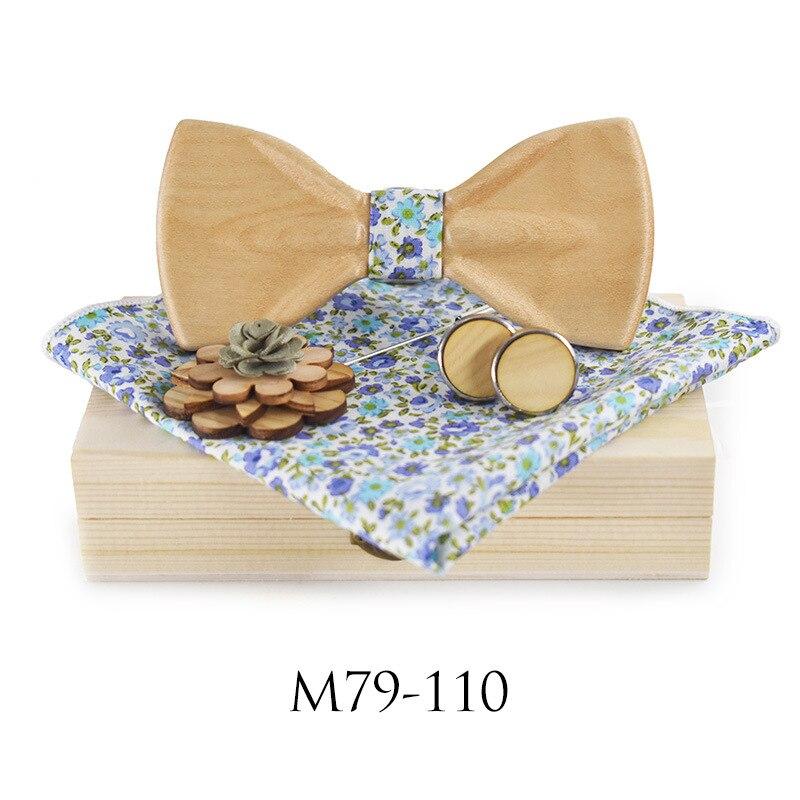 Fashion men accessories  mens knit ties  wooden bow tie  necktie  bow tie blouse DIY 3D Bow Tie Set For Men
