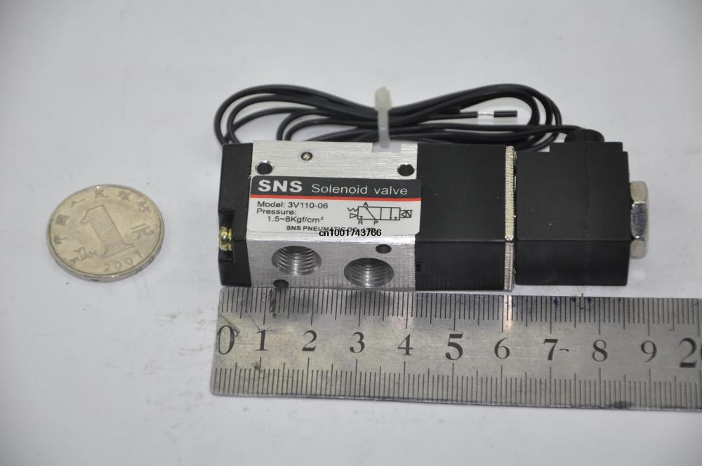 3V110-06 RC1/8 ''DC24V с проводом 2 положения 3 порта Соленоидный клапан управления (3 В серии) SNS pnematic части воздушный клапан 2/3 способа