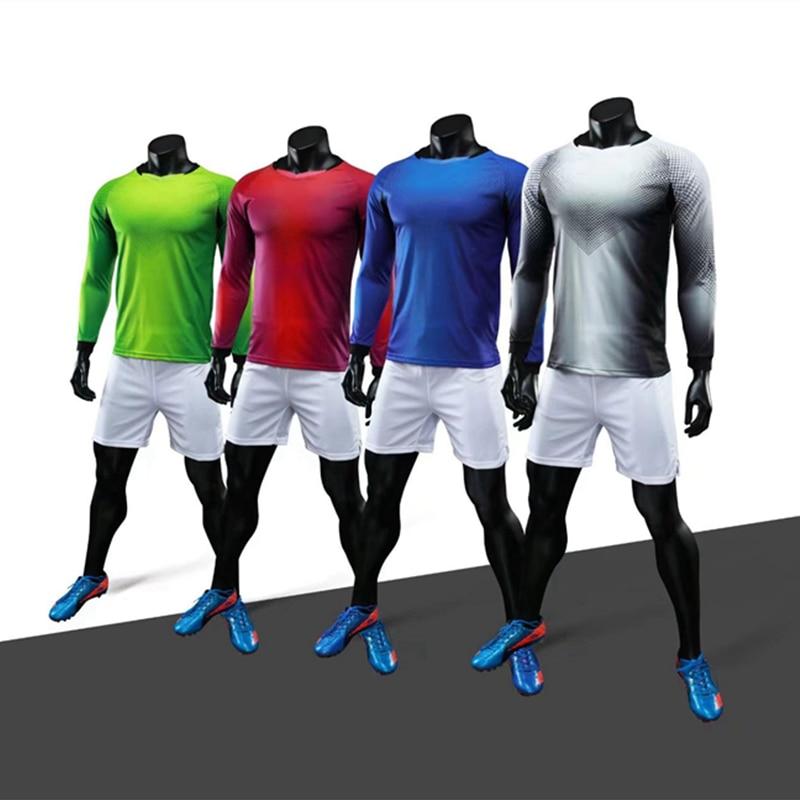 Uniforme de fútbol de manga larga, transpirable, para hombres, jóvenes, camisetas de fútbol, Kit personalizado, Fútbol 2018, traje de entrenamiento