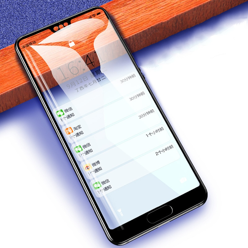 Protector de pantalla 3D para huawei P Smart Plus 2019 2018 cristal para Huawei Nova 3i 4 3 P20 Pro P30 Lite vidrio templado Protector