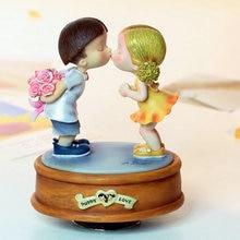 Rotierenden spieluhr harz liebhaber spieluhr geburtstagsgeschenk freundin hochzeitsgeschenke dekoration
