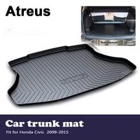 atreus car accessories waterproof anti slip trunk mat tray floor carpet pad for honda civic 2009 2010 2011 2012 2013 2014 2015