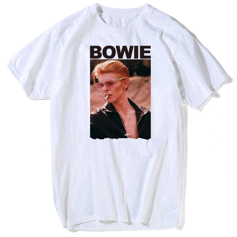 david bowie t shirt men's funny magic women star wars parody man t-shirt ziggy stardust Rock IN MEMORY Short Sleeve Rock Legends