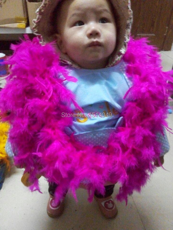 Free shipping wholesale 5pcs high quality  Turkey feathers  2m long Feather boa Decorative rose