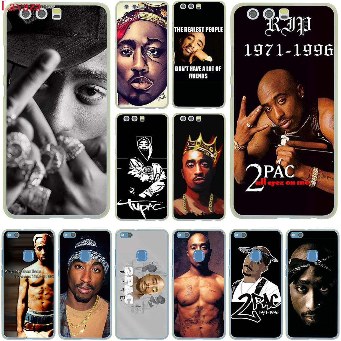 Lavaza 2Pac Tupac Amaru Shakur Hard Case for Huawei P30 P20 P10 P9 Plus P8 Lite Mini 2017 2016 2015 P smart Z 2019
