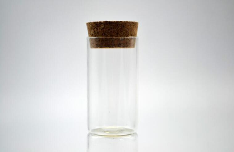 100pcs 27*50mm wholesale test tube Storage Bottle Jar Small wishing Glass Bottle Vials Glass Jars Cork Stopper vial Container