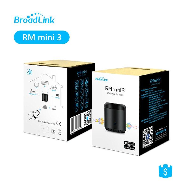 2-Pack BroadLink RM mini 3 IR Universal Fernbedienung Infrarot-fernbedienung, voice Control mit Amazon Alexa & Google Hause