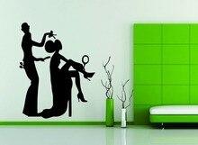 Wall Decor Vinyl Sticker Decal Fashion Hair Salon Girl Face Woman