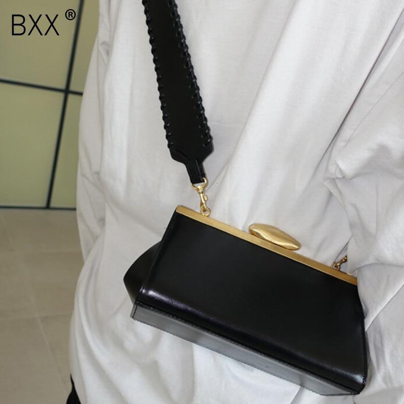 [BXX] bandolera de un solo hombro con solapa totalmente combinable, diseño de moda 2020, correas tejidas, bolsa de mensajero con Clip, bolso de cuero PU HG280