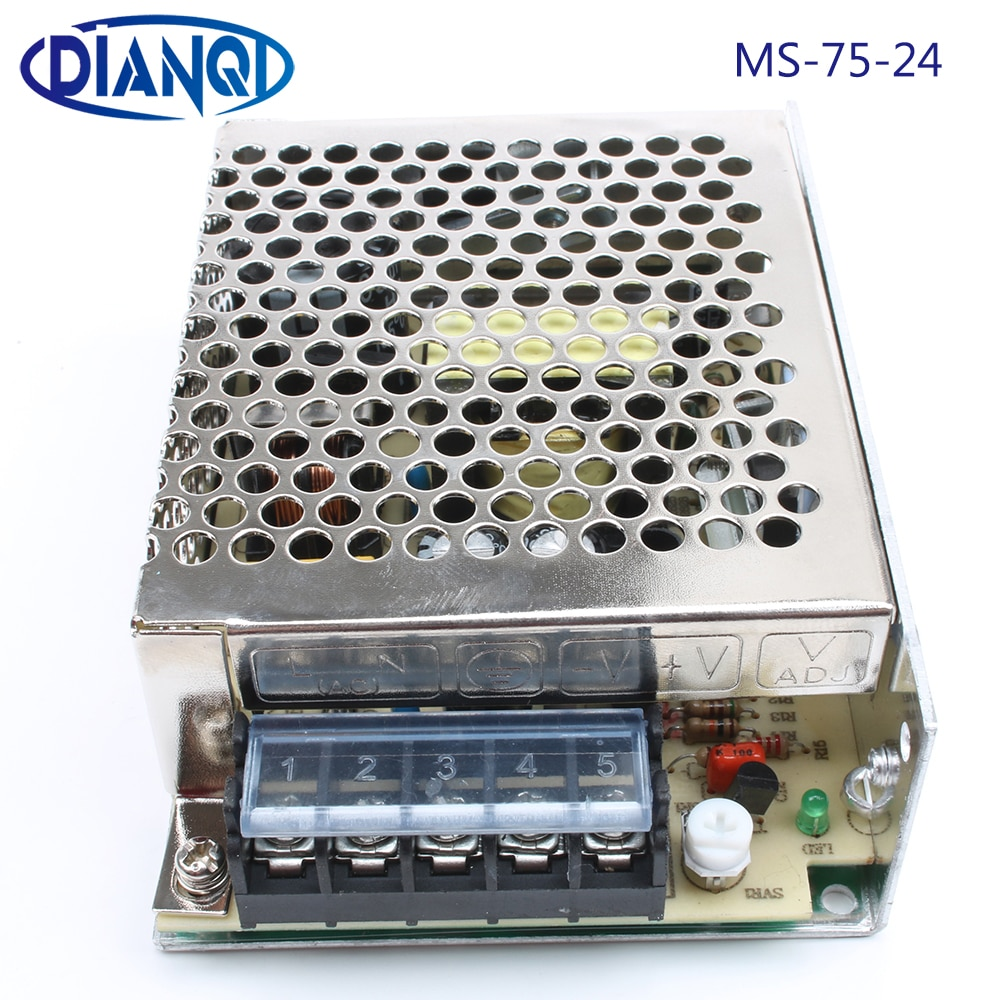 DIANQI-convertisseur dalimentation 75w 24V 3.2A   Alimentation électrique 75w 24v, mini format din led, convertisseur ac dc