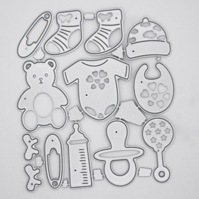 Suministros para bebé, productos de decoración, marcos de Metal de acero, troqueles de corte DIY, álbum de fotos, tarjetas de papel de grabado, 10,5*8,4 cm