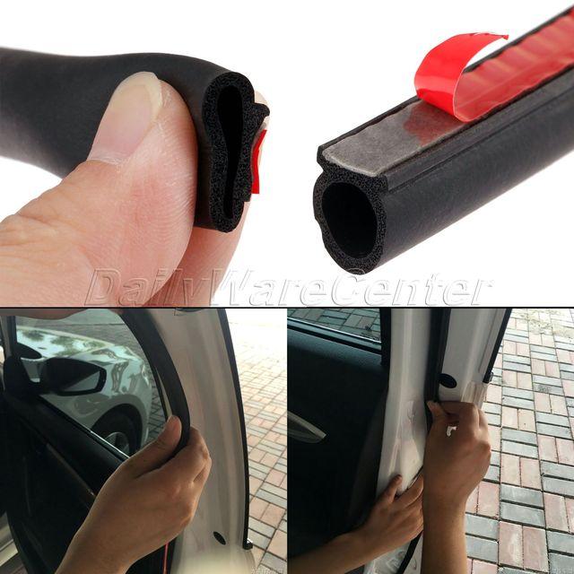 Маленькая d образная уплотнительная лента для автомобильных дверей, 8 метров, EPDM, каучук, шумоизоляция, защита от пыли, звукоизоляция, уплотнительная лента для багажника двигателя