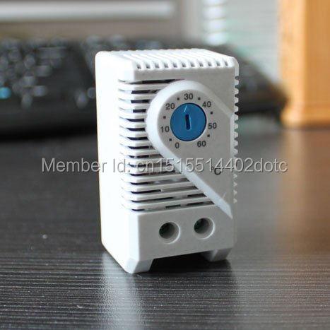 (10 unids/lote) termostato ajustable compacto pequeño KTS011, ventilador controlador de temperatura de 0-60 grados o luz individual para gabinete
