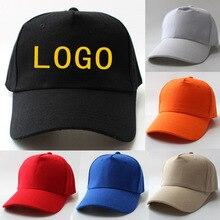 Gorra de béisbol personalizada con logotipo impreso, foto bordada, sombreros casuales sólidos, color puro, gorra negra, velcro para hombres y mujeres, gorra de béisbol