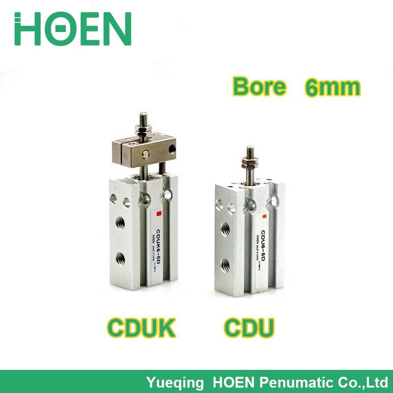 CDUK6-20D Tipo SMC varilla de doble acción no giratoria diámetro de 6mm carrera 20mm cilindro de montaje libre CUK6-20D de una sola varilla CDUK6 20D