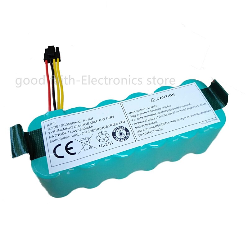 Batería para aspiradora robótica Kitfort KT504 Haier T322 T321 T320 T325/Panda X500 X580/Ecovacs Mirror CR120/Dibea X500 X580