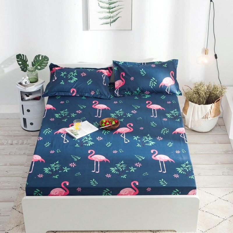 Funda de colchón a prueba de agua Flamingo TPU, protector de colchón liso, antiácaros, antipolvo, alfombrilla de cama de animal, Funda de colchón, Sábana ajustable