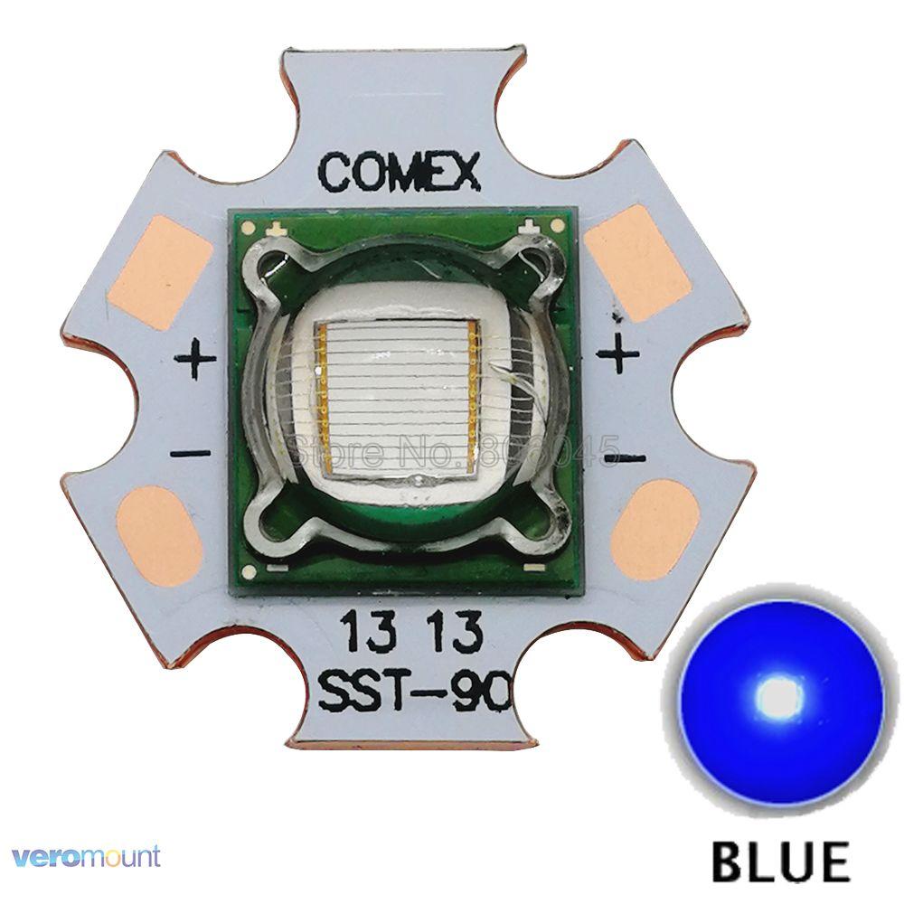 SST90 SST-90 5-7A 450NM-455NM Azul Royal 3.2-3.4 V de Alta Potência Luminus LED Emissor de Luz Da Lâmpada Para Substituir Diodo Emissor de Luz Da Lâmpada do Bulbo