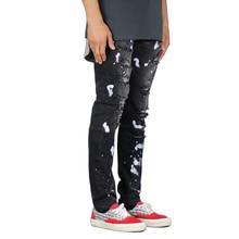 2019 Mannen Jeans Ripped Ontwerp Mode Zwarte Jeans Voor Mannen E5051